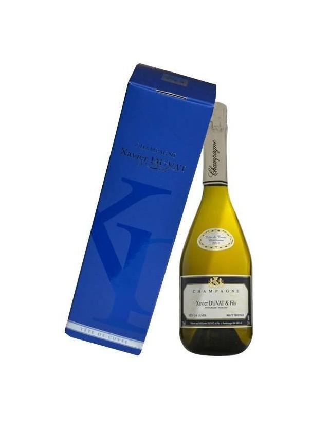 Tête de cuvée brut prestige millésime champagne alberic duvat