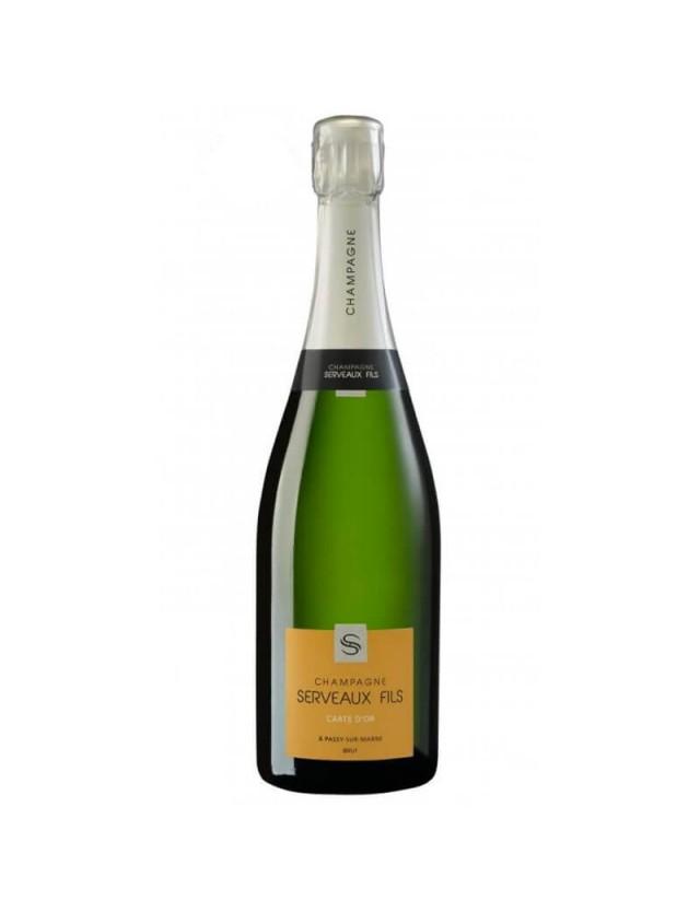 Carte d'Or champagne serveaux fils