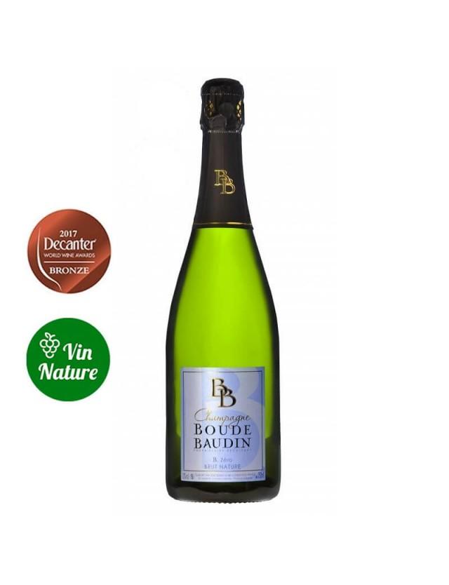 Cuvée B Zéro Brut Nature champagne boude baudin