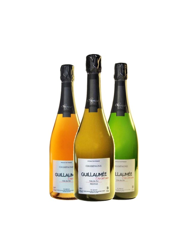 Coffret 3 bouteilles CHAMPAGNE GUILLAUMEE